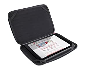 """DURAGADGET Black Memory Foam Tablet Carry Case With Dual Zips For Kurio 10"""" Android Tablet"""