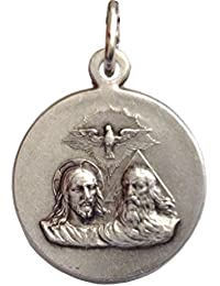 The Holy Trinity Silver Tone Medal - The Patron Saints Medals