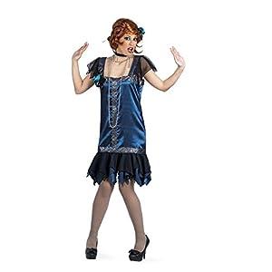 Limit Sport - Disfraz de Charlestón para adultos, color azul, talla S (EA122)