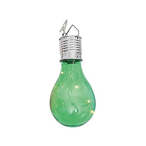 Multicolored Modern Lanterns Waterproof Solar Rotatable Outdoor Camping Hanging LED Light Lamp Bulb Wedding Garden Decorative Lights Multi Ball Lanspo (green)