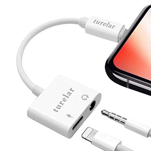 Kopfhörer Adapter für iPhone 7 / 7Plus iPhone 8 / 8Plus iPhoneX XS XS Max XR 3.5mm Kopfhörer Audio Adapter für iPhone iPad Splitter Kopfhörer Jack Adapter Kabelkonverter Aux Audio Anschluss Headset Zubehör Unterstützung Audio + Lautstärkeregler + Wireless Control Unterstützung 1SO11 / 12 Weiß