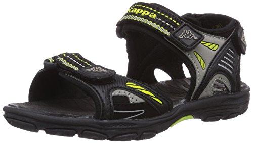 Kappa Float K Footwear Kids, mixte enfant Noir (Black/lime)