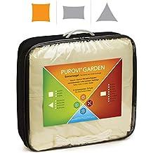 Purovi® Toldo Cuadrado | Varias Dimensiones | Protección UV | PES Impermeable ...