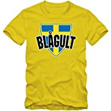 Schweden WM 2018#4 T-Shirt | Fußball | Herren | Trikot | Blågult | Nationalmannschaft, Farbe:Gelb (Lemon L190);Größe:S
