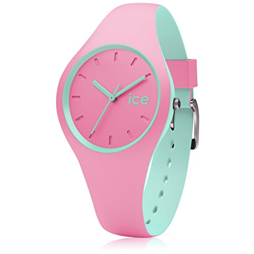 Ice-Watch - ICE duo Pink Mint - Rosa Damenuhr mit Silikonarmband - 001493 (Small)