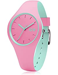 Ice-Watch - Duo - Pink mint - Small 1570 - Montre Quartz - Affichage Analogique - Bracelet Silicone rose et Cadran multicolore - Mixte