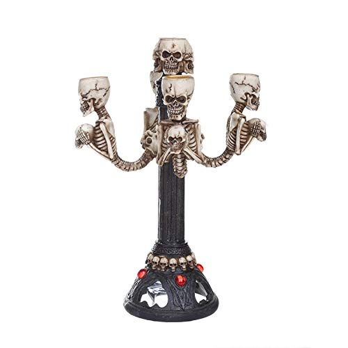 RQZQ Ornaments Home Kreative Ghost Kerzenhalter Ornamente Table Dinner Decoration Teelichthalter Halloween Party Candlestick Decor Crafts Geschenke