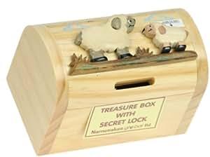 Kids sheep baby money box piggy bank with secret lock for Secret piggy bank