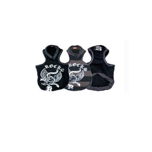 Rock Eagle Design Hund Kleidung Designer Luxus Puppy Pet Kleidung Coat Jacke T Shirt Apparel Jumper Pullover Hoodie Winter Weihnachten Geschenk Warm Pink Blau Kleine mittlere Große Hunde extra groß Hunde (XS, schwarz) (Große Extra Hund T-shirt)