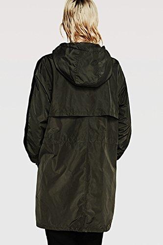 Les Femmes Occasionnel - Capuche Style Manteau Cordon Extérieur De La Tenue. green