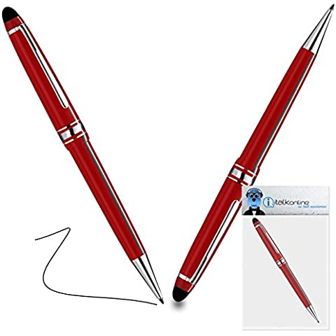 iTALKonline BlackBerry 9380 Curve Rosso PRO Captive Toccare Punta penna