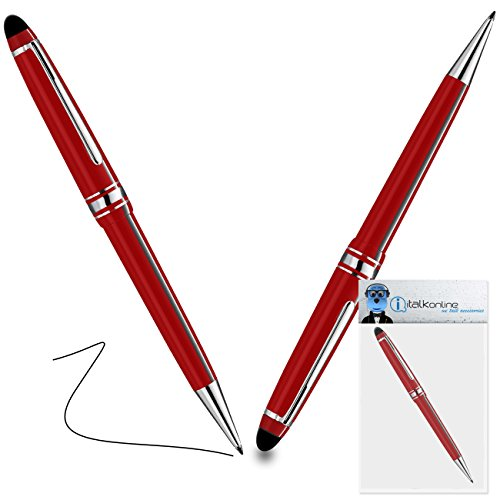 iTALKonline Lenovo IdeaPad Yoga 11-inch Touchscreen Convertible Laptop Red PRO Captive Touch Tip Stylus Pen with Rubber Tip with Roller Ball Pen  available at amazon for Rs.280