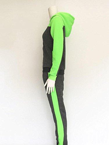 Survêtements Ensembles sportswear Femmes,zycShang Les Deux PièCes, Sports Sweat à Capuche Costumes SurvêTements De SurvêTement Vert