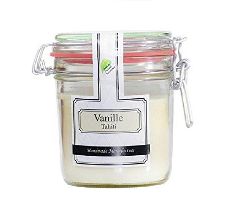 Parfüme Boutique 1106372 VT Vintage Vintage Verre – L – Parfum Vanille Tahiti Bougie parfumée dans Verre, Blanc, 13 x 13 x 12 cm