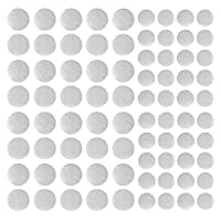 Self Adhesive Dots Tapes, 100Pair Sticky Dot Tapes Super Sticky Hook Loop, 10mm ANG 20mm(White)