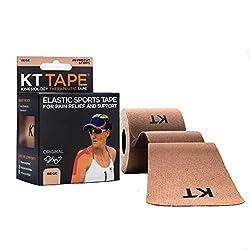 Kt Tape Elastic Sports Tape Original,Pre-Cut,20 Strip,Ctn,Beige