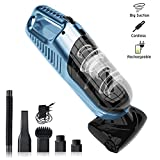 Portable Handheld Vacuum Cleaner Cordless 6000 Pa with electric suction brush & accessories
