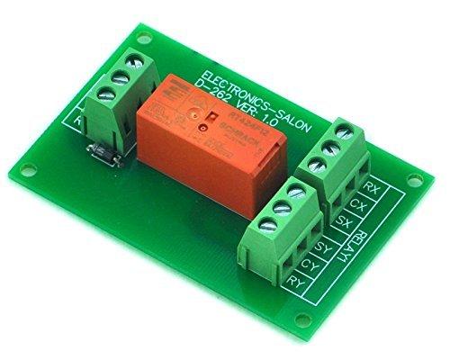 Electronics-Salon Passives bistabiles / verriegelndes DPDT 8 Amp Leistungsrelais-Modul, 12V Version, RT424F12 -