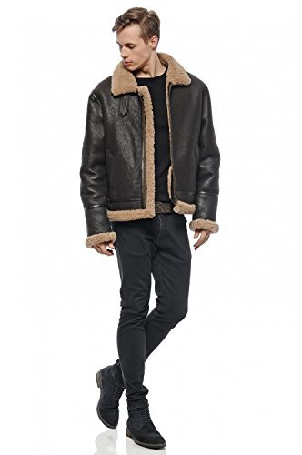 DGC Leather - Blouson - Teddy - Col Mao - Homme Marron