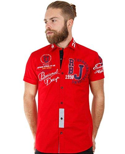 Redbridge Herren Regular Fit Freizeithemd R-2123 Rot - Red