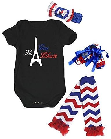 Petitebelle - Body - Bébé (fille) 0 à 24 mois noir noir - noir - S