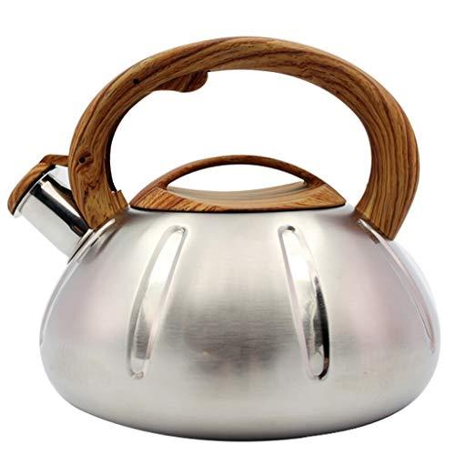FJH Réchaud à gaz en acier inoxydable 304 Poêle à gaz à gaz à 3 capacités avec bouteille d'eau siffleuse 3L