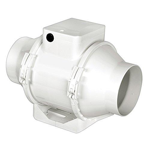 AIRFLOW AVENTA 100T - Ventilador Extractor (en línea, 100 mm, con Temporizador)