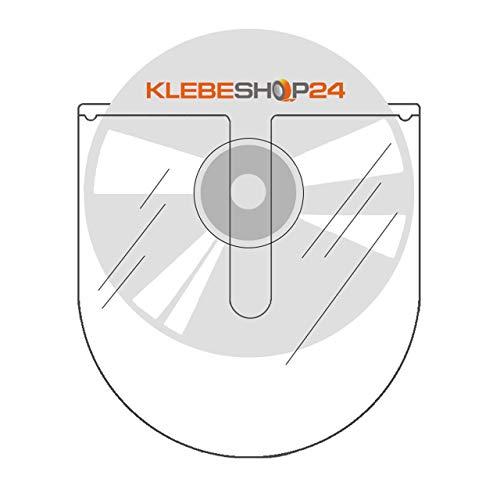 CD-Hüllen selbstklebend | Transparent | Oben offen | 20 oder 100 Stück | CD-Tasche zum Einkleben | Selbstklebende Hüllen für CD, DVD, Blu-ray / 20 Stück