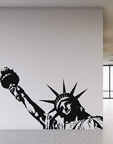 New York Wahrzeichen Freiheitsstatue Vinyl Wandtattoo Büro Universität Schlafsaal Wohnzimmer Wohnkultur Wandtattoo 57 * 91 cm (Die Pixies Vinyl)