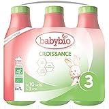 Babybio Lait Croissance Liquide - 3ème âge dès 10 Mois - 6x1L - BIO Fabriqué en France & Lait français - Formule PREMIUM : DH