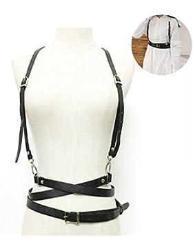 Vbiger Mujer Cinturón Arnés de Cuero Cinturones