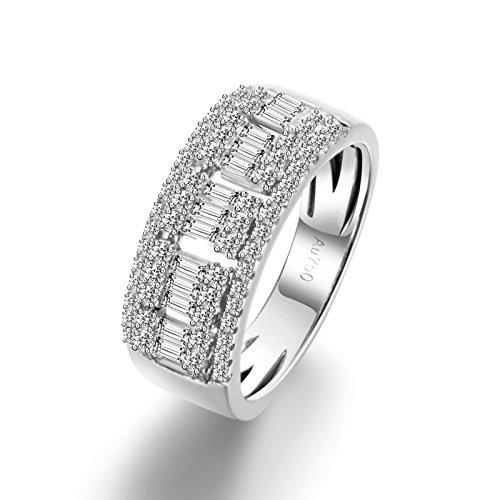 (DOLOVE Herren Unisex Damen - Gold 18 Karat (750) 14 Karat (585) Weißgold Brilliant Rund White Diamant)