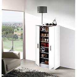 Mueble armario zapatero economico con 7 estantes color BLANCO
