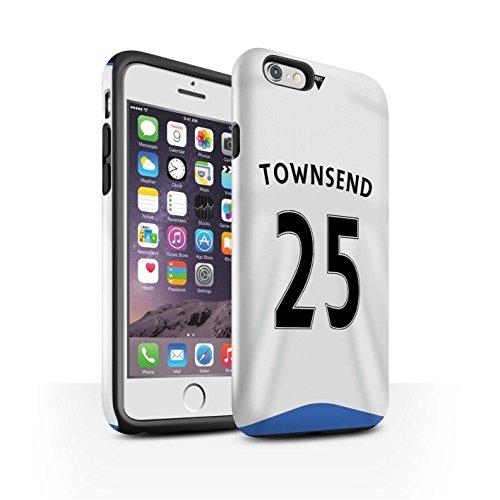 Offiziell Newcastle United FC Hülle / Glanz Harten Stoßfest Case für Apple iPhone 6S / Janmaat Muster / NUFC Trikot Home 15/16 Kollektion Townsend