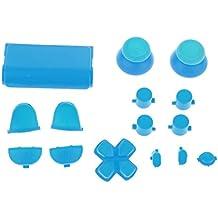 Reemplazo Kit de Botón de Tapa L2 L1 R1 R2 Thumbstick para Sony PS4 Controlador Azul claro