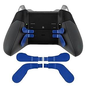 4 Stück Metall Edelstahl Paddel Haar Trigger Locks Ersatz für Xbox One Elite Controller Blau