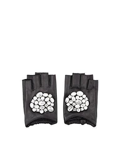 Preisvergleich Produktbild Karl Lagerfeld Damen 81Kw3601999 Schwarz Leder Handschuhe
