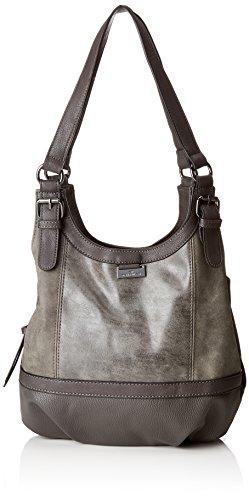 TOM TAILOR Shopper Damen Juna, Grau (Grau), 14x29x31 cm,Tasche Damen