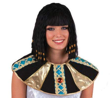 Pierro´s Kostüm Perücke Cleopatra schwarz Zubehör Cleopatra Perücke Damenperücke Kunsthaar für Karneval, Fasching, Halloween, Motto Party / Verkleidung Nationen Ägypten (Ägyptische Kostüm Perücke)