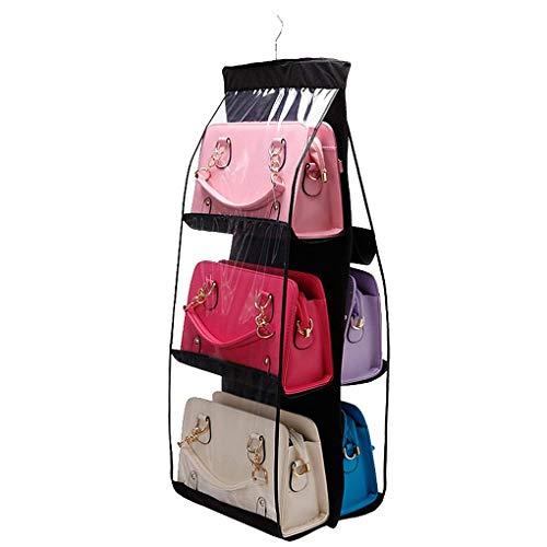 Dekorative Schuh-speicher (Aiming Family Organizer Handtaschen-Speicher Taschen Schuhe Lagerung Aufhänger Haus- und 6 Taschen Closet Rack Kleiderbügel)