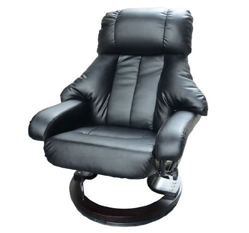 Homcom Luxury Fuax leather Chair Recliner Electric Massage Chair Sofa 10 Massager Heat with Foot Stool Black