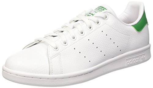 Adidas Stan Smith, Scarpe da Ginnastica Uomo Bianco (Ftwwht/Ftwwht/Green)