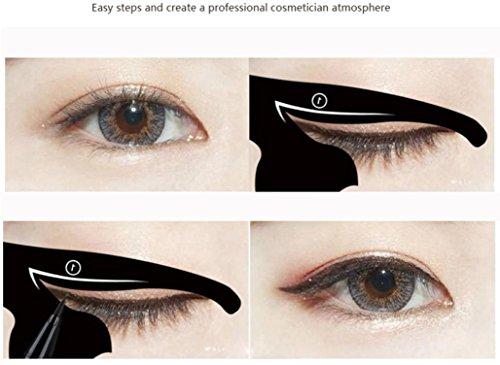 Dinglong 2 Stücke Nette persönlichkeit mode eyeliner karte katzenauge karte Frauen Katze Linie Pro Augen Make-Up-Tool Eyeliner Schablonen Vorlage Former Modell