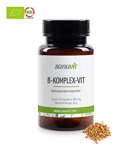 B-Komplex-Vit (mit natürliche B-Vitamine) 60veg. Kapseln