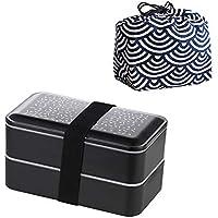 Preisvergleich für Lunch Box, Doppel Isolierte Lunch Box, Geteilte Bento Box Mikrowelle Sicherheit Fitness