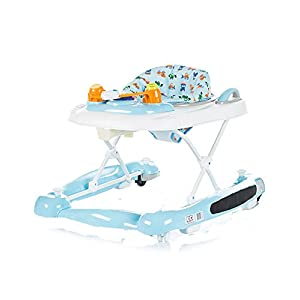 Chipolino 3-in-1 Baby Walker, Blue, Lilly Venicci Carrycot: L 102cm W 61cm H 112 cm Age suitability: From birth to 6 months Seat unit: L 95cm W 61cm H 112cm Age suitability: From 7 to 36 months Chassis without wheels: L 82cm W 51cm H 28cm 5