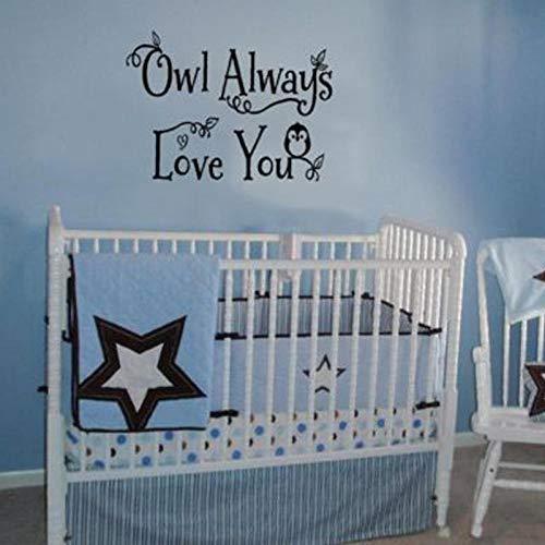 Olivialulu Eule Immer Lieben Sie Babys Schlafzimmer Wandaufkleber Kunst Dekoration Vinyl Tapete Aufkleber Kindergarten Kinderzimmer Aufkleber Wandbilder L487