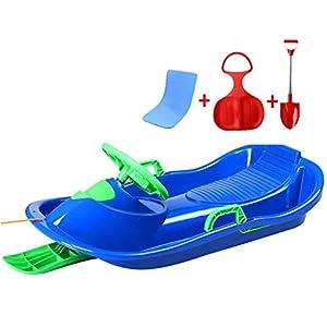 Chunse Sledge Steering Schlitten, Schneeroller Schlitten Für Kinder Mit Bremsen Tobbogan Winter-Spielzeug
