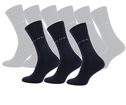 Pierre Cardin® Herrensocken Business-Socken, Baumwoll-Socken, Anzug-Socken aus Italien Navy Blau (9, 39-42)