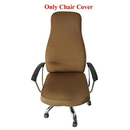 ozzptuu Spandex Elastic Stuhl Bezug robustem Pure Color Split dünn Abschnitt Stuhl deckt für Computer Büro Schreibtisch coffee - 2 Stück Patio Kissen